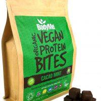 Cubetti di proteine vegetali cacao menta